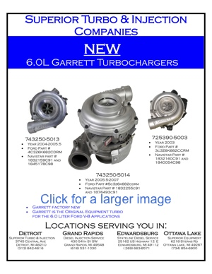 New Garrett 6.0 L Turbochargers