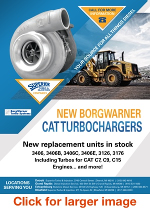 New BorgWarner CAT Turbochargers