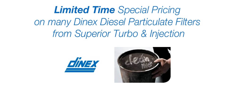 Limited Time Special Pricing on Dinex DPF from Superior Turbo & Injection +1-313-842-4616